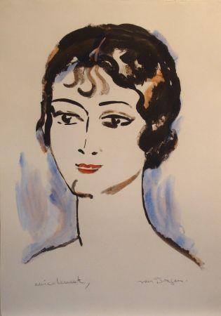 リトグラフ Van Dongen - Portrait de Jeune Femme