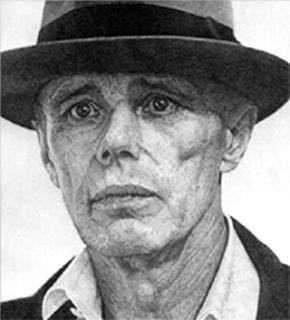 リトグラフ Hucleux - Portrait de Joseph Beus