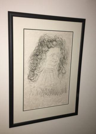 エッチングと アクチアント Dali - Portrait De La Fontaine