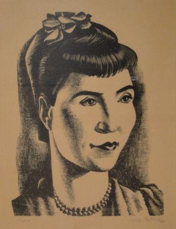 木版 Patocchi - Portrait de Madame Vreni Bonizzi