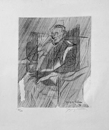 彫版 Villon - Portrait de Marcel Duchamps