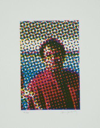 エッチングと アクチアント Jacquet - Portrait de Mario Schifano