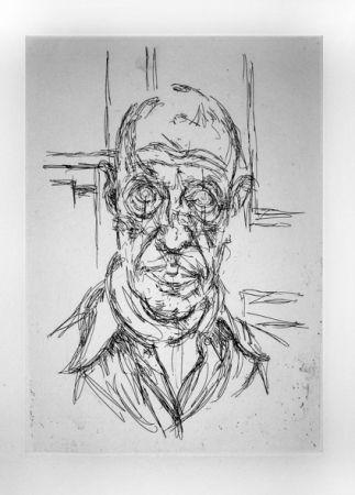彫版 Giacometti - Portrait de Michel Leiris