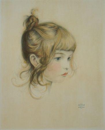 リトグラフ Sauer - Portrait de Nicole