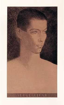 彫版 Marcoussis - Portrait de Serge Lifar