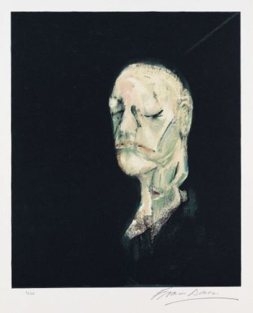 リトグラフ Bacon - Portrait de William Blake