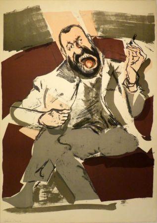 リトグラフ Varlin (Guggenheim, Willy) - Portrait des Photographen Ernst Scheidegger