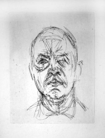 彫版 Giacometti - Portrait d'Iliazd