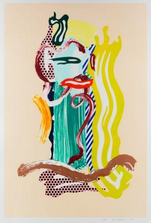 多数の Lichtenstein - Portrait, From Brushstroke Figures Series