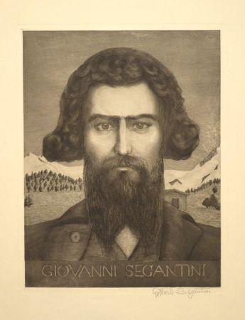 彫版 Segantini - Portrait Giovanni Segantini