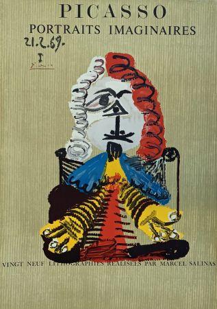 リトグラフ Picasso - Portrait Imaginaire 21.2.69 I