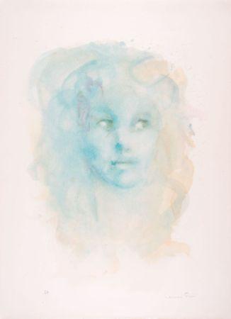 リトグラフ Fini - Portrait imaginaire bleu