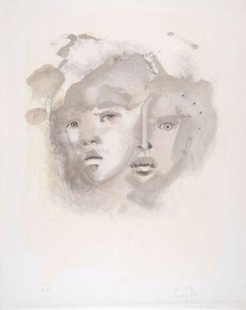 リトグラフ Fini - Portrait imaginaire brun