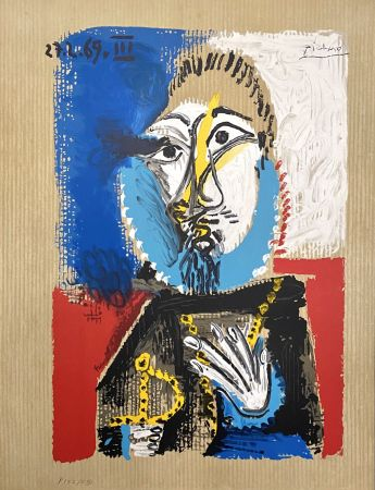 リトグラフ Picasso - Portrait Imaginaires 27.3.69 III