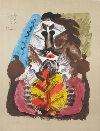 リトグラフ Picasso - Portrait Imaginaires 27.4.69