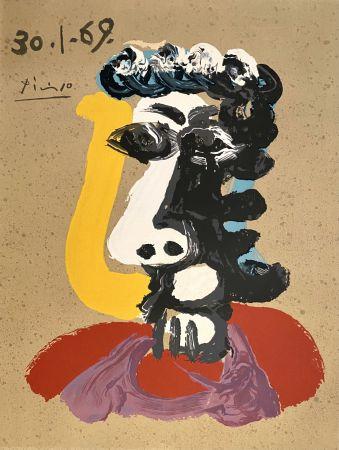 リトグラフ Picasso - Portrait Imaginaires 30.1.69