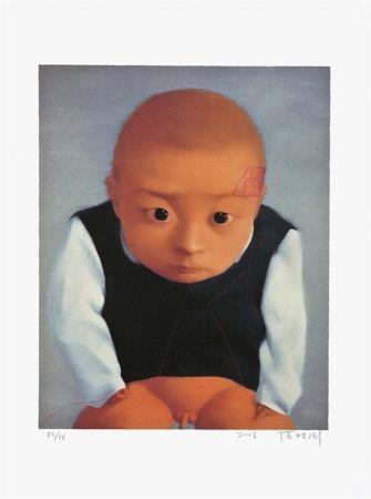 リトグラフ Xiaogang - Portrait of a boy