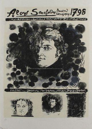 リトグラフ Sutherland - Portrait of Aloys Senefelder