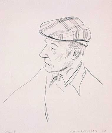 リトグラフ Hockney - Portrait Of Burroughs
