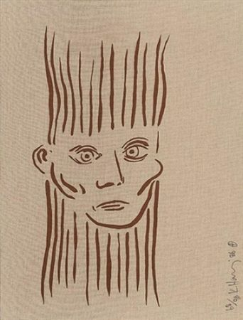 シルクスクリーン Haring - Portrait Of Joseph Beuys