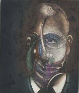 エッチングと アクチアント Bacon - Portrait of Michel Leiris