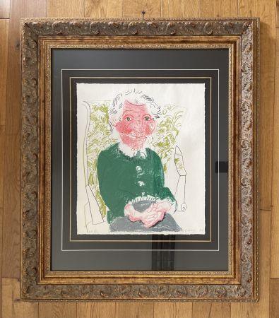 リトグラフ Hockney - Portrait of Mother 1