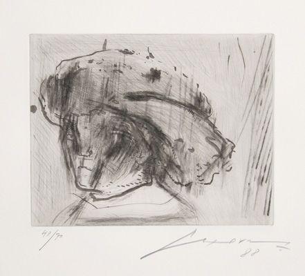 エッチングと アクチアント Cuevas - Portrait of Rembrandt as a Child