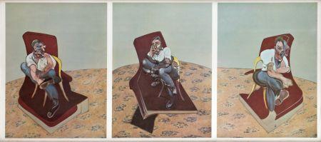 リトグラフ Bacon - Portrait Von Lucien Freud