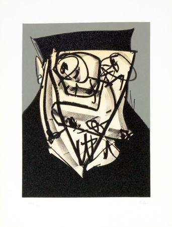 リトグラフ Saura - Portrait XIV