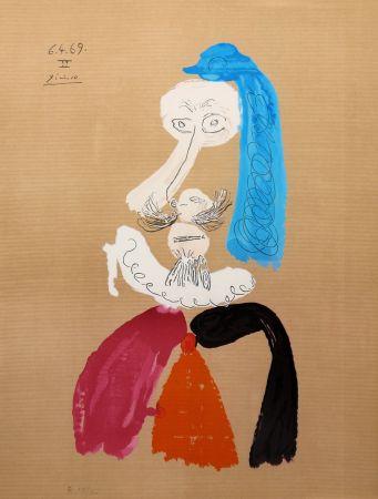 リトグラフ Picasso - Portraits Imaginaires 6.4.69 II