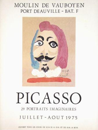オフセット Picasso - Portraits Imaginaires  Moulin De Vauboyen