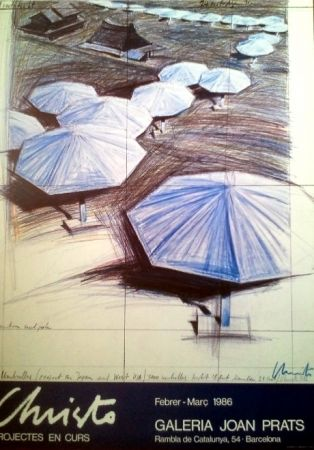 掲示 Christo - POSTER EXHIBITION 1986. HANSIGNED.