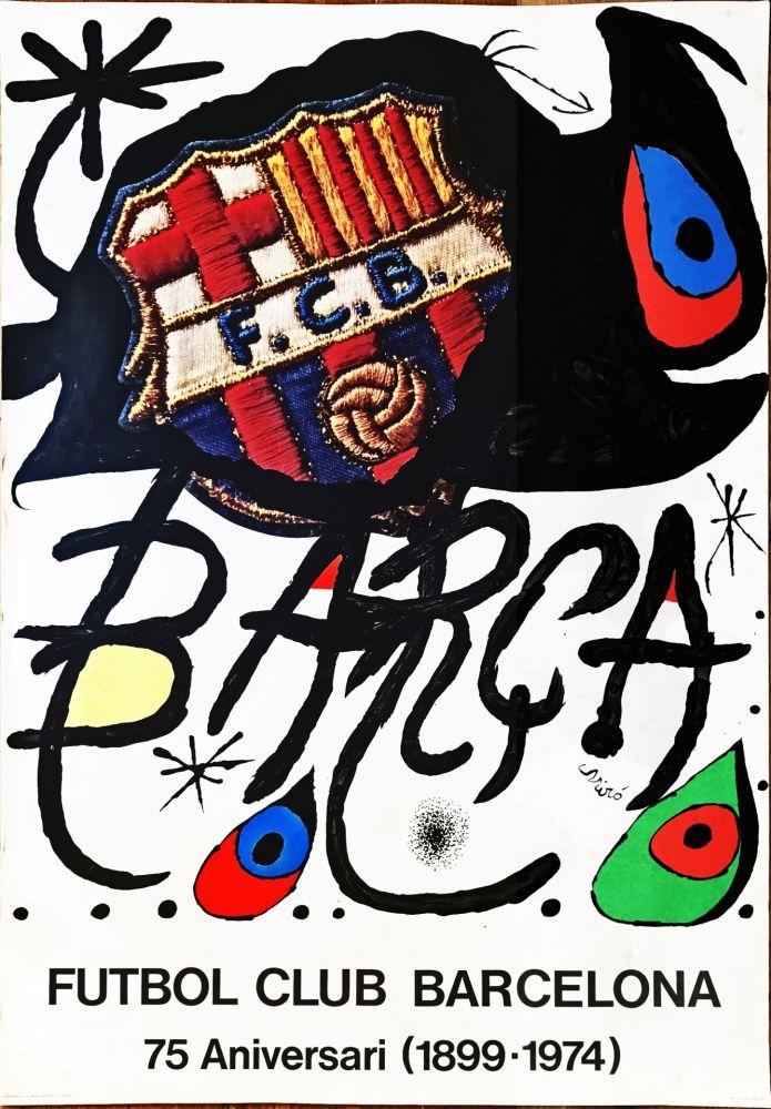 技術的なありません Miró -  Poster for the 75th Anniversary of the Barcelona Football Club