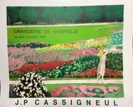 リトグラフ Cassigneul  - Poster for the exhibition at Orangerie de Bagatelle