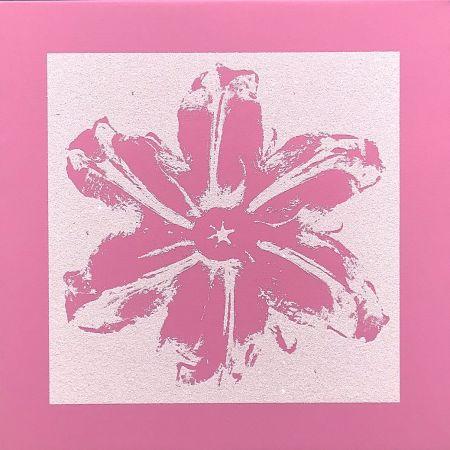 シルクスクリーン Robierb - Power Flower (Pink)