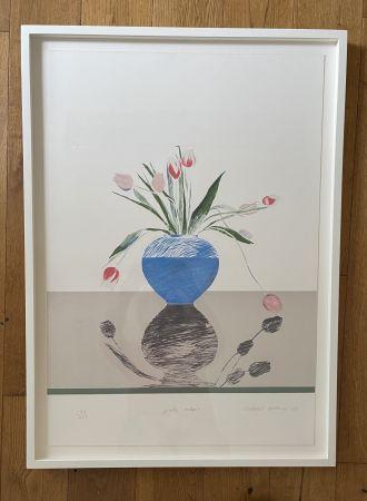 リトグラフ Hockney -  Pretty Tulips