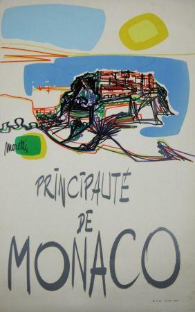 シルクスクリーン Moretti - Principauté de Monaco  1960