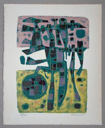 リトグラフ Manessier - Printemps Nordique II. - 1956