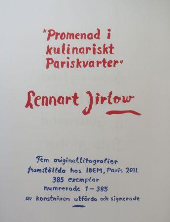 リトグラフ Jirlow - Promenade culinaire a PARIS