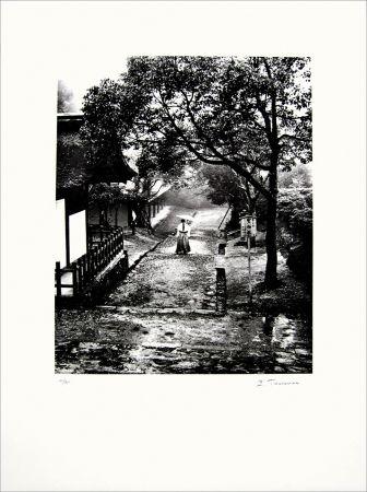 リトグラフ Tourenne - Promenade dans la brume - Japon