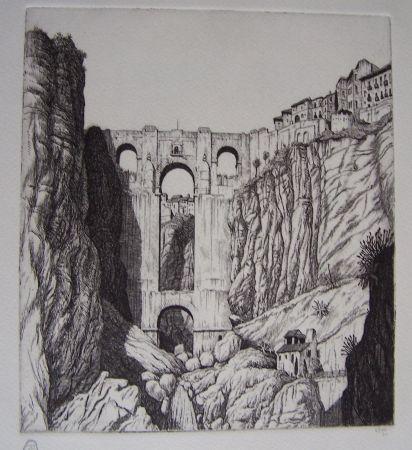 彫版 Strang - Puente Nuevo, Ronda, Spain