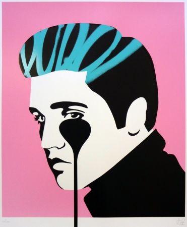 シルクスクリーン Pure Evil - Pure Elvis - King Creole (pink, black & green)