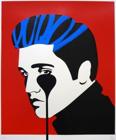 シルクスクリーン Pure Evil - Pure Elvis - The Number One (blue & red)