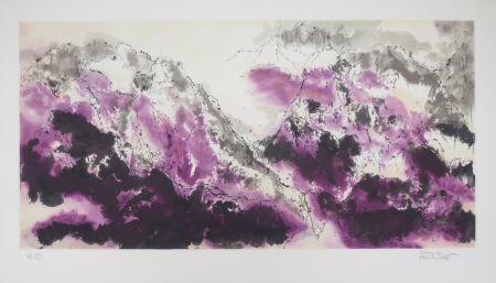 リトグラフ Po Chung - Purple mist