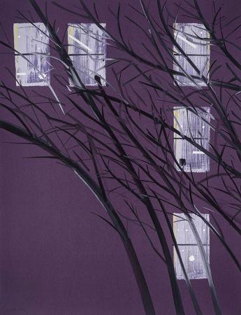 シルクスクリーン Katz - Purple Wind