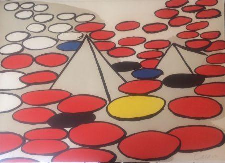 リトグラフ Calder - Pyramides