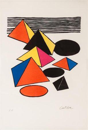 リトグラフ Calder - Pyramids And Circles