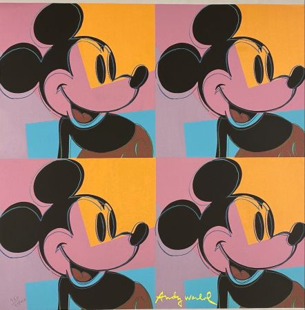 オフセット Warhol - Quadrant Mickey Mouse