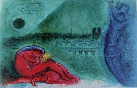 リトグラフ Chagall - Quai De La Tournelle (Regards Sur Paris)