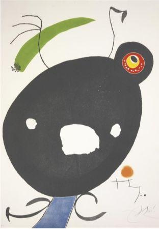 エッチングと アクチアント Miró - Quatre Colors Aparien El Món, Plate Ii